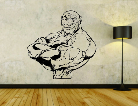 Man Flexing Weight Bar Powerlifter Fitness Gym Weightlifting Bodybuilder - ezwalldecals  - vinyl decal - vinyl sticker - decals - stickers - wall decal - jdm decal - vinyl stickers - vinyl decals - 1