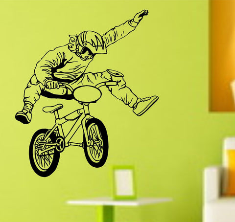 BMX Rider Version 108 Decal Sticker Bike Bicycle X Games Racing Boy Teen Wall - ezwalldecals  - vinyl decal - vinyl sticker - decals - stickers - wall decal - jdm decal - vinyl stickers - vinyl decals - 1