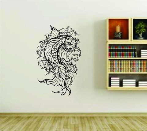 Koi Fish Asian Design Vinyl Wall Decal Sticker - ezwalldecals  - vinyl decal - vinyl sticker - decals - stickers - wall decal - jdm decal - vinyl stickers - vinyl decals - 1