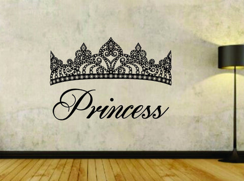 Princess and Crown Design Vinyl Wall Decal Sticker - ezwalldecals  - vinyl decal - vinyl sticker - decals - stickers - wall decal - jdm decal - vinyl stickers - vinyl decals - 1