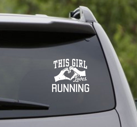 This Girl Loves Running Decal Sticker Car Window Truck Laptop - ezwalldecals vinyl decal - vinyl sticker - decals - stickers - wall decal - jdm decal - vinyl stickers - vinyl decals - 1