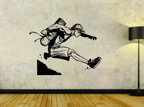 Hiker Hiking Man Version 103 Exteme Sports Vinyl Wall Decal Sticker Car - ezwalldecals  - vinyl decal - vinyl sticker - decals - stickers - wall decal - jdm decal - vinyl stickers - vinyl decals - 1