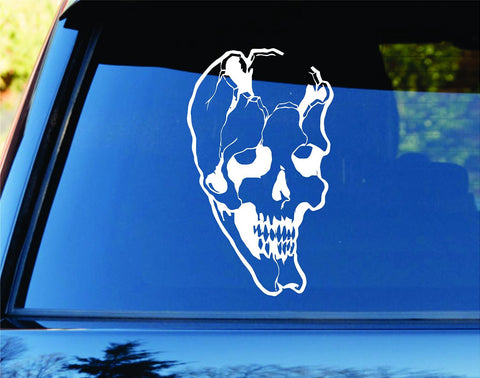Broken Skull Car Truck Window Windshield Lettering Decal Sticker Decals Stick... - ezwalldecals vinyl decal - vinyl sticker - decals - stickers - wall decal - jdm decal - vinyl stickers - vinyl decals - 1