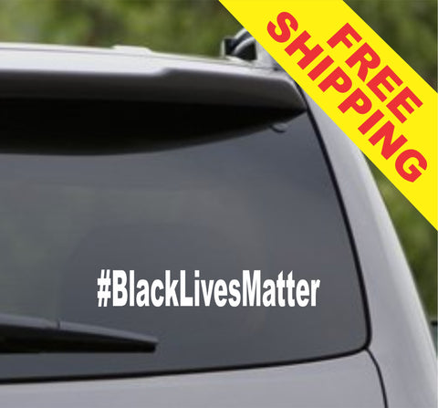 Black Lives Matter Hashtag # Car Window Windshield Lettering Decal Sticker Decals Stickers - ezwalldecals  - vinyl decal - vinyl sticker - decals - stickers - wall decal - jdm decal - vinyl stickers - vinyl decals - 1