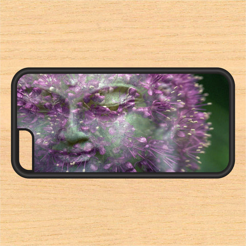 Buddha Statue with Flowers V1 PC SEC1 Print Design Art iPhone 4 / 4s / 5 / 5s / 5c /6 / 6s /6+ Apple Samsung Galaxy S3 / S4 / S5 / S6
