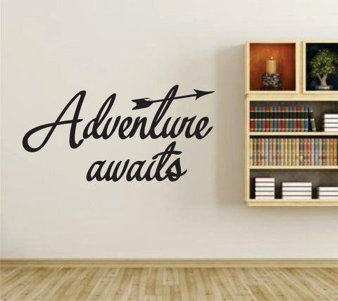 Adventure Awaits Version 101 Wall Vinyl Decal Sticker Art Graphic Sticker - ezwalldecals  - vinyl decal - vinyl sticker - decals - stickers - wall decal - jdm decal - vinyl stickers - vinyl decals - 1