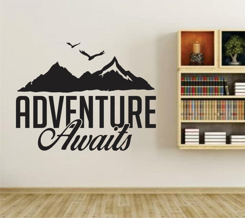Adventure Awaits Version 104 Wall Vinyl Decal Sticker Art Graphic Sticker - ezwalldecals  - vinyl decal - vinyl sticker - decals - stickers - wall decal - jdm decal - vinyl stickers - vinyl decals - 1