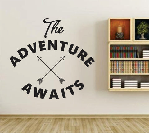 Adventure Awaits Version 106 Wall Vinyl Decal Sticker Art Graphic Sticker - ezwalldecals  - vinyl decal - vinyl sticker - decals - stickers - wall decal - jdm decal - vinyl stickers - vinyl decals - 1