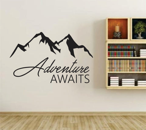 Adventure Awaits Version 107 Wall Vinyl Decal Sticker Art Graphic Sticker - ezwalldecals  - vinyl decal - vinyl sticker - decals - stickers - wall decal - jdm decal - vinyl stickers - vinyl decals - 1