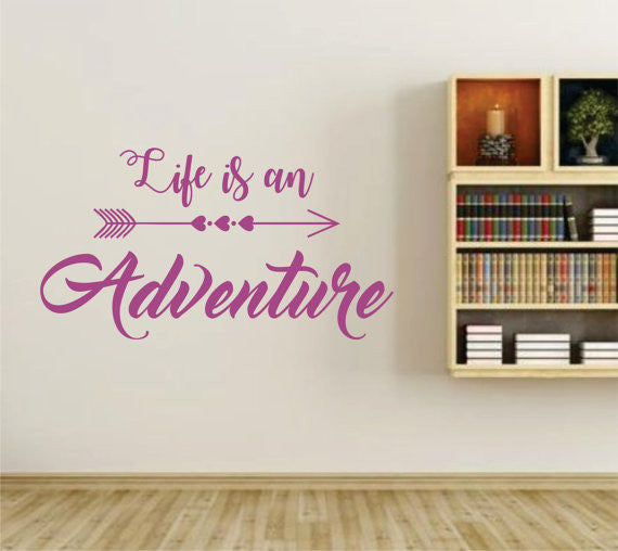 Life is an Adventure Version 101 Wall Vinyl Decal Sticker Art Graphic Sticker - ezwalldecals  - vinyl decal - vinyl sticker - decals - stickers - wall decal - jdm decal - vinyl stickers - vinyl decals - 1