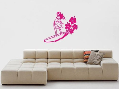 Surfer Girl Decal Sticker Wall - ezwalldecals  - vinyl decal - vinyl sticker - decals - stickers - wall decal - jdm decal - vinyl stickers - vinyl decals - 1