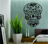 Extra Large Sugarskull Wall Vinyl Decal Sugar Skull - ezwalldecals  - vinyl decal - vinyl sticker - decals - stickers - wall decal - jdm decal - vinyl stickers - vinyl decals - 1
