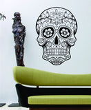 Extra Large Version 5 Sugarskull Wall Vinyl Decal Sugar Skull - ezwalldecals  - vinyl decal - vinyl sticker - decals - stickers - wall decal - jdm decal - vinyl stickers - vinyl decals - 1