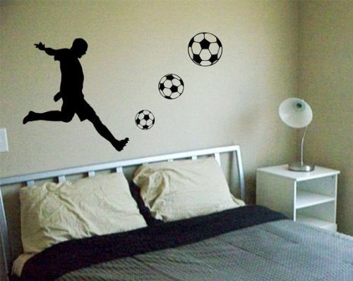 Soccer Player Decal Sticker Wall - ezwalldecals  - vinyl decal - vinyl sticker - decals - stickers - wall decal - jdm decal - vinyl stickers - vinyl decals - 1