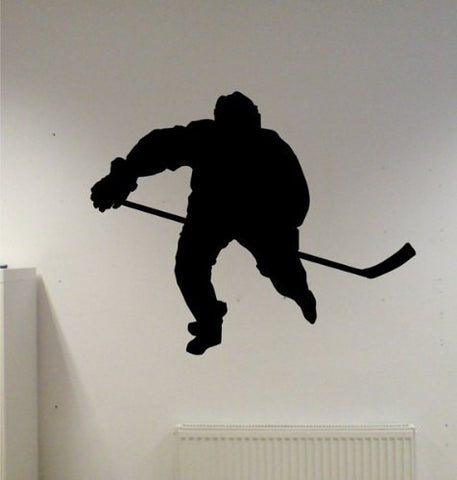 Ice Hockey Player Version 1 Decal Sticker Wall - ezwalldecals vinyl decal - vinyl sticker - decals - stickers - wall decal - jdm decal - vinyl stickers - vinyl decals - 1