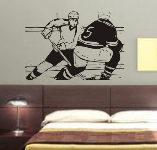 Ice Hockey Players Decal Sticker Wall - ezwalldecals  - vinyl decal - vinyl sticker - decals - stickers - wall decal - jdm decal - vinyl stickers - vinyl decals - 1