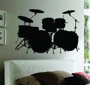 Drum SET Version 101 Wall Mural Decal Sticker Music - ezwalldecals  - vinyl decal - vinyl sticker - decals - stickers - wall decal - jdm decal - vinyl stickers - vinyl decals - 1