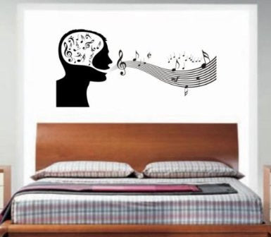 Music Man Decal Wall Mural Decal Sticker Music on My Mind - ezwalldecals  - vinyl decal - vinyl sticker - decals - stickers - wall decal - jdm decal - vinyl stickers - vinyl decals - 1