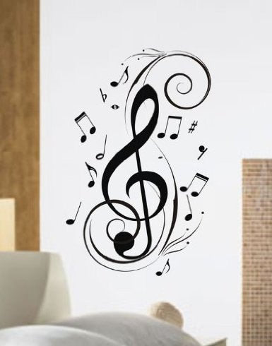Music Notes Design Decal Wall Mural Decal Sticker - ezwalldecals  - vinyl decal - vinyl sticker - decals - stickers - wall decal - jdm decal - vinyl stickers - vinyl decals - 1