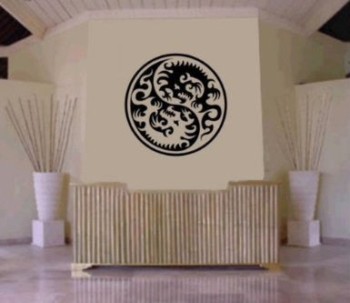Tribal Yin Yang  Decal Sticker Wall Art Graphic - ezwalldecals  - vinyl decal - vinyl sticker - decals - stickers - wall decal - jdm decal - vinyl stickers - vinyl decals - 1
