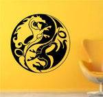 Tribal Yin Yang Dragon Version 2 Decal Sticker Wall Art Graphic - ezwalldecals  - vinyl decal - vinyl sticker - decals - stickers - wall decal - jdm decal - vinyl stickers - vinyl decals - 1