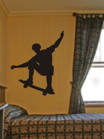 Skateboarder Decal Sticker Wall - ezwalldecals  - vinyl decal - vinyl sticker - decals - stickers - wall decal - jdm decal - vinyl stickers - vinyl decals - 1