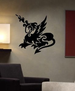 Tribal Dragon Decal Sticker Wall Art Graphic - ezwalldecals  - vinyl decal - vinyl sticker - decals - stickers - wall decal - jdm decal - vinyl stickers - vinyl decals - 1