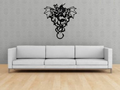 Tribal Dragon Version 202 Decal Sticker Wall Art Graphic - ezwalldecals  - vinyl decal - vinyl sticker - decals - stickers - wall decal - jdm decal - vinyl stickers - vinyl decals - 1