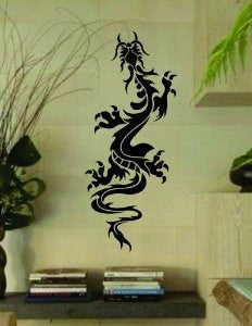 Tribal Dragon Version 3   Decal Sticker Wall Art Graphic - ezwalldecals vinyl decal - vinyl sticker - decals - stickers - wall decal - jdm decal - vinyl stickers - vinyl decals - 1