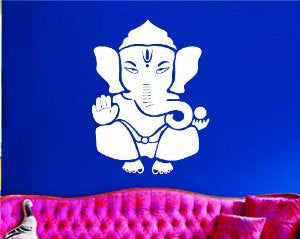 Ganesha Elephant Version 101 Decal Sticker Wall Art Graphic - ezwalldecals  - vinyl decal - vinyl sticker - decals - stickers - wall decal - jdm decal - vinyl stickers - vinyl decals - 1