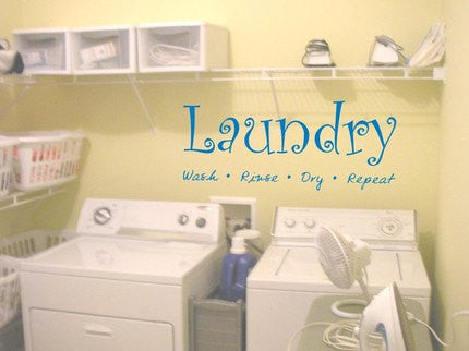 Laundry Room Quote Decal Sticker Wall - ezwalldecals  - vinyl decal - vinyl sticker - decals - stickers - wall decal - jdm decal - vinyl stickers - vinyl decals - 1