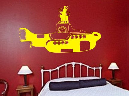 The Beatles Yellow Submarine Wall Decal Sticker - ezwalldecals  - vinyl decal - vinyl sticker - decals - stickers - wall decal - jdm decal - vinyl stickers - vinyl decals - 1