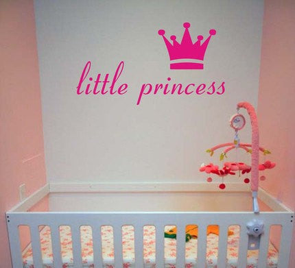 Little Princess and Crown Decal Sticker Wall - ezwalldecals  - vinyl decal - vinyl sticker - decals - stickers - wall decal - jdm decal - vinyl stickers - vinyl decals - 1