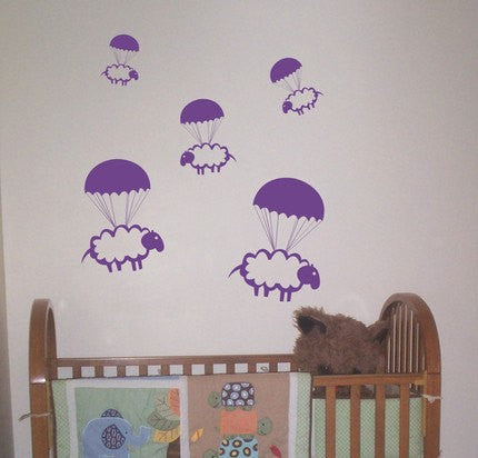 Parachuting Sheep Decal Sticker - ezwalldecals  - vinyl decal - vinyl sticker - decals - stickers - wall decal - jdm decal - vinyl stickers - vinyl decals - 1