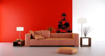 Buddha India Meditation Wall Decal Sticker - ezwalldecals  - vinyl decal - vinyl sticker - decals - stickers - wall decal - jdm decal - vinyl stickers - vinyl decals - 1