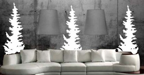Evergreen Trees Wall Decal Sticker - ezwalldecals  - vinyl decal - vinyl sticker - decals - stickers - wall decal - jdm decal - vinyl stickers - vinyl decals - 1
