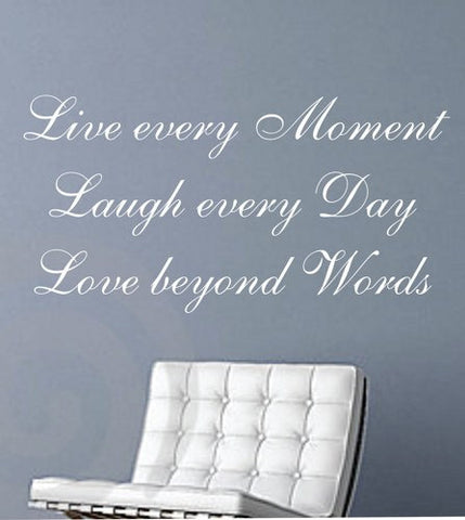 Live Laugh Love  Quote Decal Sticker Wall - ezwalldecals  - vinyl decal - vinyl sticker - decals - stickers - wall decal - jdm decal - vinyl stickers - vinyl decals - 1