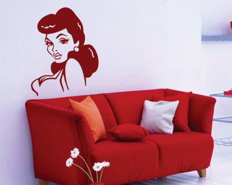 Retro Pin Up Girl  Version 102 Wall Decal Sticker - ezwalldecals  - vinyl decal - vinyl sticker - decals - stickers - wall decal - jdm decal - vinyl stickers - vinyl decals - 1