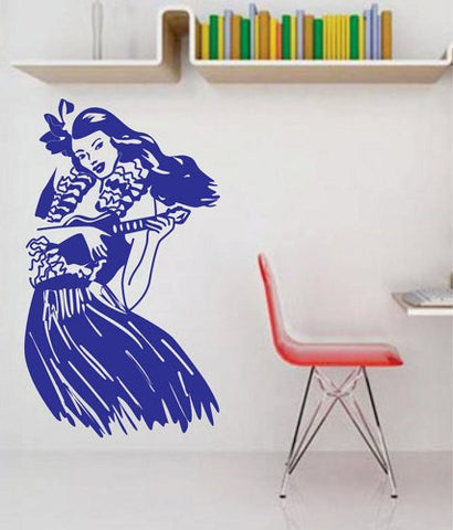 Retro Hula Girl Wall Decal Sticker - ezwalldecals  - vinyl decal - vinyl sticker - decals - stickers - wall decal - jdm decal - vinyl stickers - vinyl decals - 1