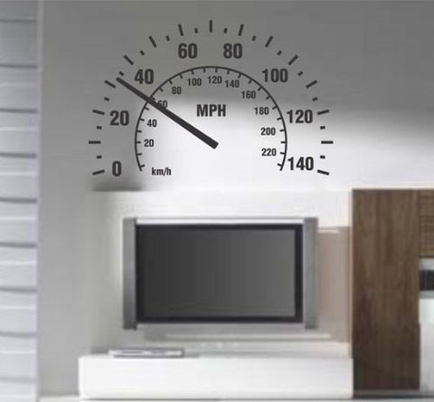 Extra Large Speedometer Wall Decal Sticker - ezwalldecals  - vinyl decal - vinyl sticker - decals - stickers - wall decal - jdm decal - vinyl stickers - vinyl decals - 1