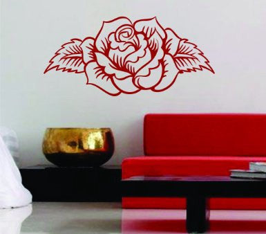 Rose Design Wall Decal Sticker Flowers - ezwalldecals  - vinyl decal - vinyl sticker - decals - stickers - wall decal - jdm decal - vinyl stickers - vinyl decals - 1