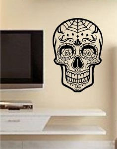 Sugar Skull Version 11 Wall Vinyl Decal Sticker Art Graphic Sticker Sugarskull - ezwalldecals  - vinyl decal - vinyl sticker - decals - stickers - wall decal - jdm decal - vinyl stickers - vinyl decals - 1
