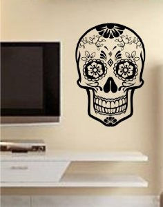 Sugar Skull Version 13 Wall Vinyl Decal Sticker Art Graphic Sticker Sugarskull - ezwalldecals  - vinyl decal - vinyl sticker - decals - stickers - wall decal - jdm decal - vinyl stickers - vinyl decals - 1