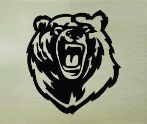 Bear Face Version 101 Vinyl Wall Decal Mural Sticker - ezwalldecals  - vinyl decal - vinyl sticker - decals - stickers - wall decal - jdm decal - vinyl stickers - vinyl decals - 1