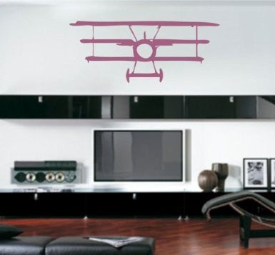 Bi-Plane Decal Sticker Wall Decal Art - ezwalldecals  - vinyl decal - vinyl sticker - decals - stickers - wall decal - jdm decal - vinyl stickers - vinyl decals - 1