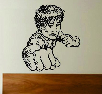 Kung Fu Master Decal Sticker Wall Boy Girl Teen Child Sport Fight - ezwalldecals  - vinyl decal - vinyl sticker - decals - stickers - wall decal - jdm decal - vinyl stickers - vinyl decals - 1