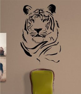 Tiger Face Version 103 Decal Sticker Wall Animal Kid Child Room Boy Girl Teen Nursery - ezwalldecals vinyl decal - vinyl sticker - decals - stickers - wall decal - jdm decal - vinyl stickers - vinyl decals - 1