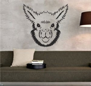 Alpaca Face Sticker Wall Decal Animal Art Graphic - ezwalldecals  - vinyl decal - vinyl sticker - decals - stickers - wall decal - jdm decal - vinyl stickers - vinyl decals - 1
