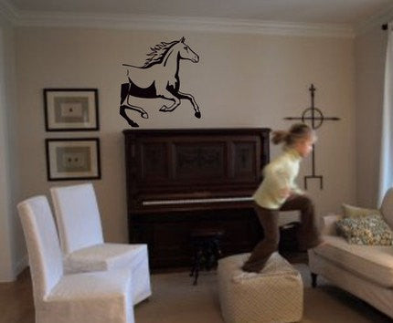 Horse Running Wall Decal Sticker Country Cowboy Equestrian horses kid - ezwalldecals  - vinyl decal - vinyl sticker - decals - stickers - wall decal - jdm decal - vinyl stickers - vinyl decals - 1