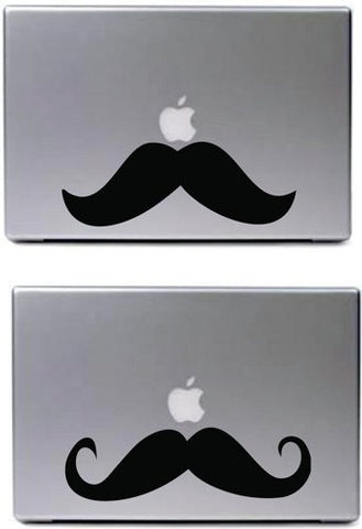 Large Vintage Stache 2 Pack Decal Sticker Laptop Car Window Mustache - ezwalldecals vinyl decal - vinyl sticker - decals - stickers - wall decal - jdm decal - vinyl stickers - vinyl decals - 1